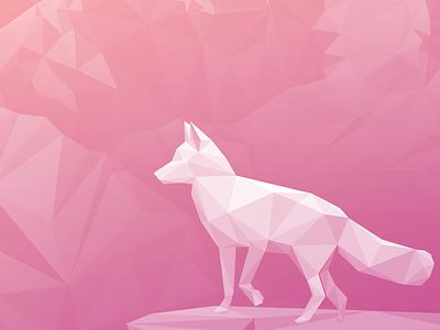 Elevate (3 of 3) low poly washington sunrise shiny pink mountain lowpoly landscape illustration cascades