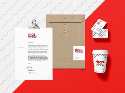 Dias Rebrand stationery mockup logo identity design branding