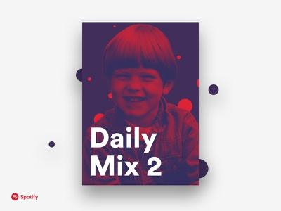 Spotify Daily Mix 2 duotone circular typography design graphic poster spotify