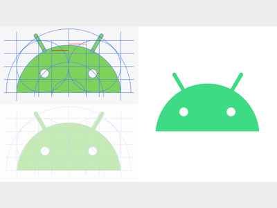 Android Brand Refresh iconography icon visual identity android design branding identity logo