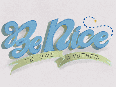 be nice typography illustration procreate applepencil