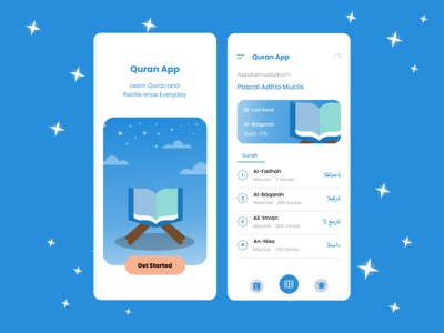 My Qur'an mobile android app graphic design ui