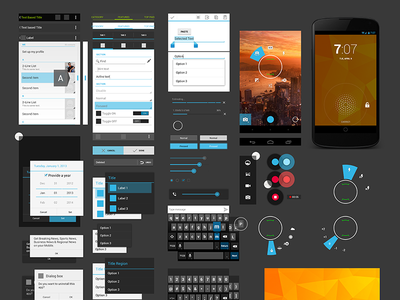 Nexus 4 GUI android 4.2.2 jelly bean nexus 4 design gui template free psd camera ui ux holo light flat colorful simple google lg version spinner photoshop screen vector 3d pixel toggle layer dark kit