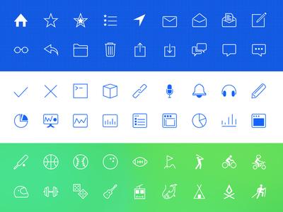 iOS 7 line icons