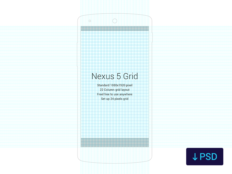 Nexus 5 Grid nexus 5 grid layout psd freebies standard pixel google material design 8dp os