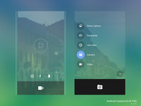 Android Camera UI Kit PSD