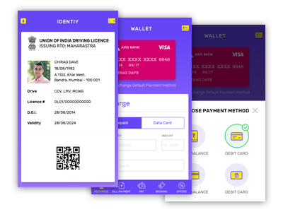 Wallet + Identity design simple ux ui user interface banking mobile identity digital future wallet