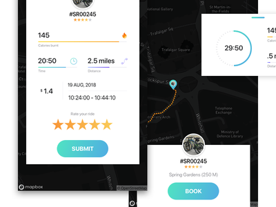 Book Your Ride mobile design user-entered uxer expert ninja ux ui experience book hire bike
