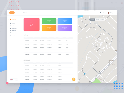 Dashboard page (Not a concept) admin client webapp design ui visual ux mvp simple