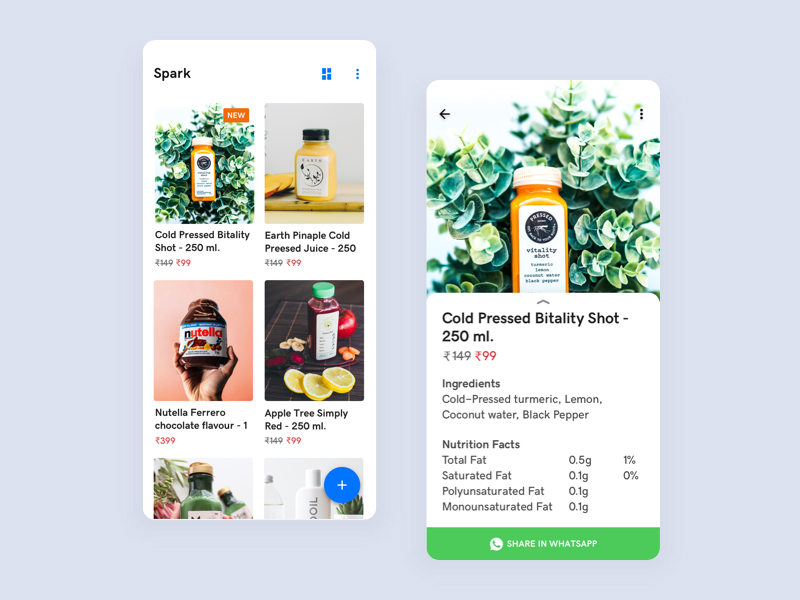 Products Catalog and details screen inspiration simplicity colors application mobile interface clean pixel details product homescreen thinking design app ui ux sketch