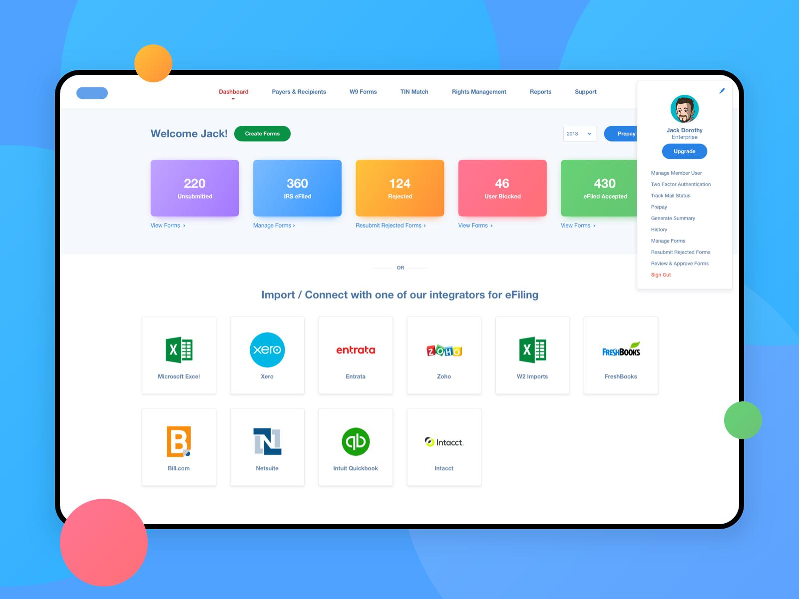 SaaS Web Application / Finance freshbooks zoho xero card minimalist page overview dashboard simple ux ui finance design application web webapp saas