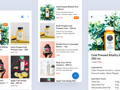 Products Catalog grid/list view