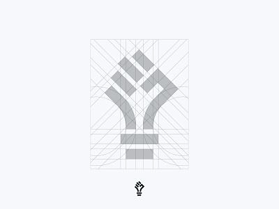 Unleashed Grid logoconstruction grid logo grid unleashed human electric power lightbulb hand fist identity branding mark symbol logo