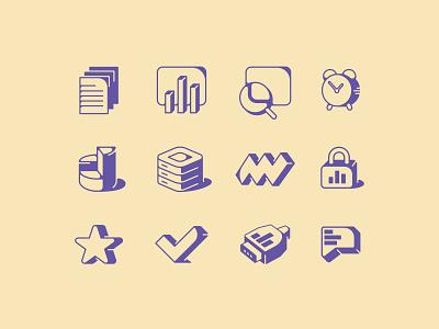 Icons Set brand identity icons identity branding mark symbol logo