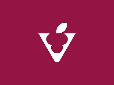 vinexperia drink fruit negativespace negativespacelogo grapes winery grape wine negative space identity branding mark symbol logo