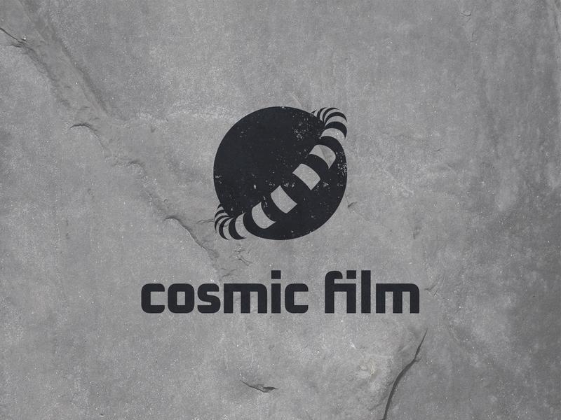 Cosmic Film negativespace negativespacelogo orbital movie film planet space cosmic negative space identity branding mark symbol logo