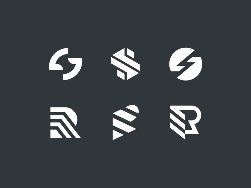 Monograms investment artificial intelligence ai machinelearning hardware software realestate letter s g r e monogram identity branding mark symbol logo