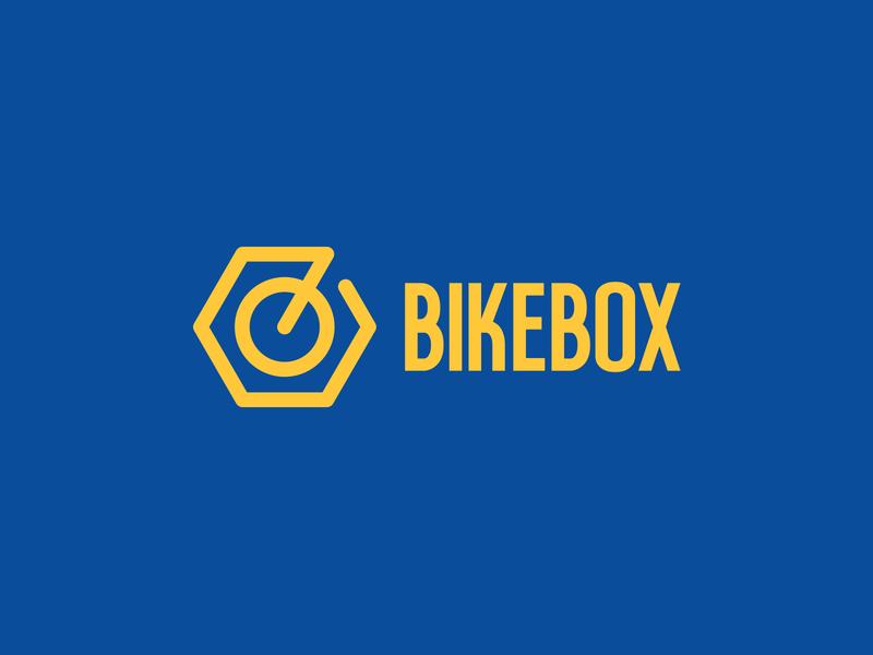 Bike Box bicycle repair bicyclist bike ride bikeshop biker tools bikes minimalist logo box bike minimal identity branding mark symbol logo