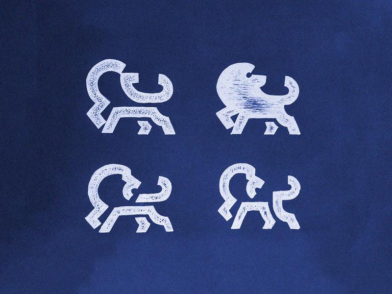 What we are? sketches drawing geometric minimalism lion minimal animal identity branding mark symbol logo