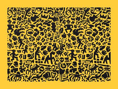Pattern pattern art print pattern animal identity branding