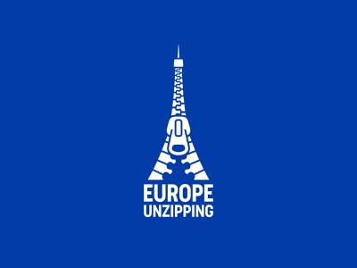 Europe Unzipping covid-19 coronavirus france paris eiffel tower europe zipper mark symbol logo