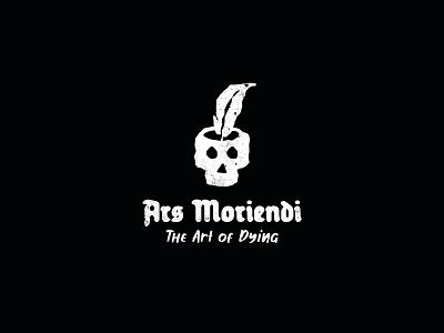 Ars Moriendi writting pencil dying death ink art skull identity branding mark symbol logo