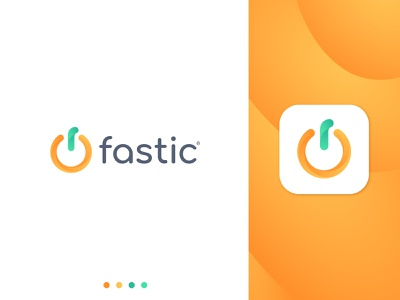 Fastic App life healthyfood healthy care health food app fasting orange fruit switch button diet food fastic identity branding mark symbol logo
