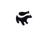 Honey Badger negative space logo honeybadger badger negative space animal identity branding mark symbol logo