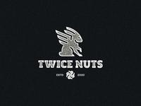 Twice Nuts geometric art geometric wings rabbit negative space animal identity branding mark symbol logo