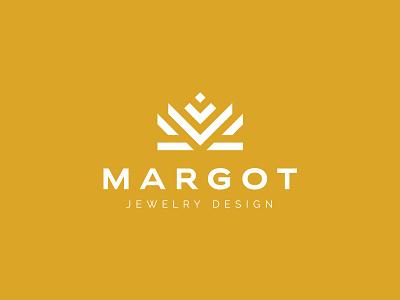 Margot margot crown jewellery jewelry identity branding mark symbol logo