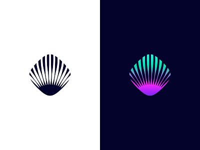 Shell negative space logo negative-space negativespace negative space shell identity branding mark symbol logo