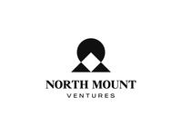 North Mount geometric design minimalistic location pin peak mountain logo negativespacelogo ventures north location mountain negative space identity branding mark symbol logo