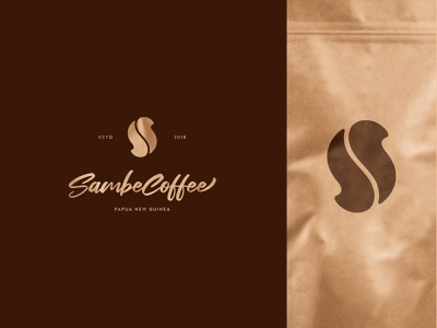 Sambe Coffee coffeeshop coffee bean drink cafe coffee identity branding mark symbol logo