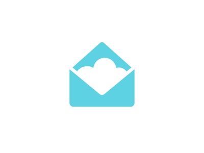 Cloud letter envelop negativespacelogo negativespace negative space data tech cloud brandidentity identity branding mark symbol logo