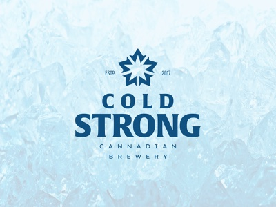 Cold Strong negative space maple leaf brew brewery beer canada star mapleleaf identity branding mark symbol logo