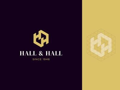 Hall & Hall hhletter hh geometic geometry construction space realestate monogram identity branding mark symbol logo