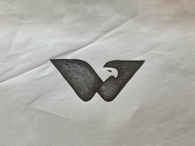 W Eagle negative space logo negative-space negativespace letter w monogram letter mark monogram bird eagle negative space animal identity branding mark symbol logo