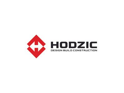 Hodzic - Design, Build, Construction letter h monogram arrow negative space logo realestate design construction build building negative space identity branding mark symbol logo
