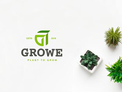 Growe Brand Case Study negative space negative space logo negativespace monogram lettermark green leaf delivery plant identity branding mark symbol logo