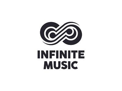Infinite Music infinity note music negative space identity branding mark symbol logo