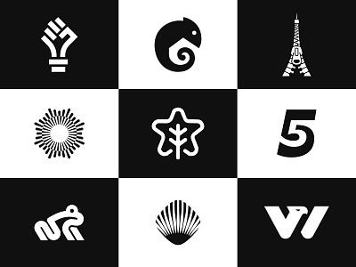 Top 9 2020 monogram negative space animal identity branding mark symbol logo