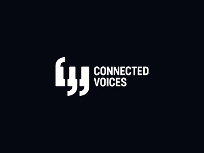 Connected Voices singing choir voices quotes coma piano keys piano music negative space identity branding mark symbol logo
