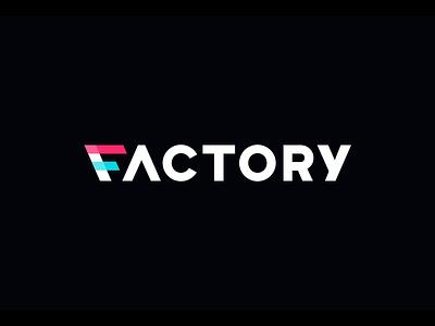 Factory Animation logoanimation animation flag lettermark logotype mark symbol logo