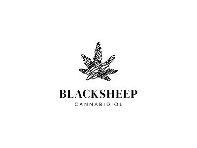 Blacksheep scribble sketch wool curly sheep cannabi cannabidiol cbd identity branding mark symbol logo