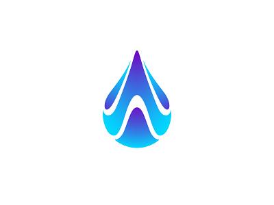 Drop brand identity water weather drop negative space identity branding mark symbol logo