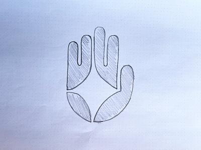 Tajikara light star handpalm hand negative space identity branding mark symbol logo