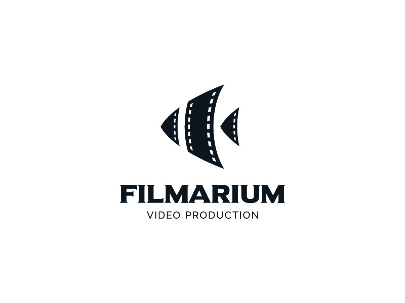Filmarium stoic sava inspiration video film scalar fish aquarium symbol mark logo