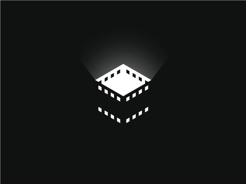 Glow Film stoic sava inspiration negative-space light strip box movie film symbol mark logo