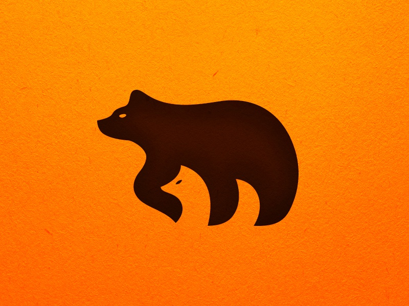 Bear Fox sava stoic negative space fox animal bear symbol mark logo