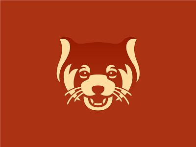 Red Panda sava stoic red panda identity branding animal illustration symbol mark logo